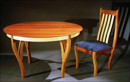 Sapele Table and Chair