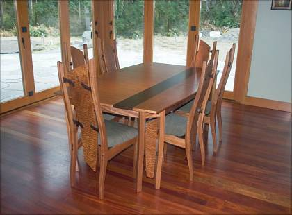 Dining Table with Float Back Chair